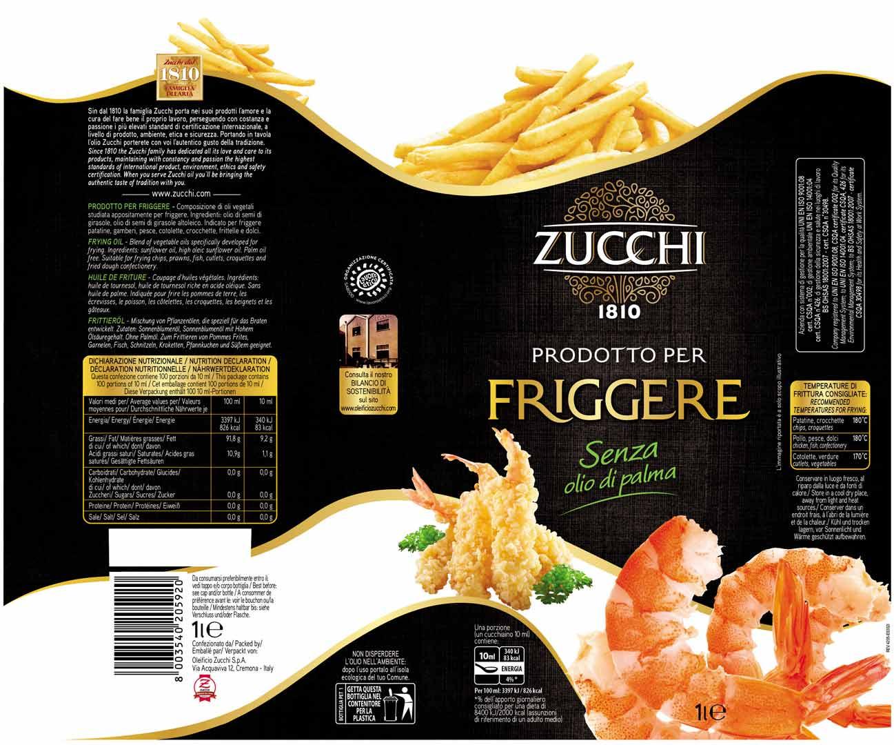Zucchi Friggere 1L sleeve EU