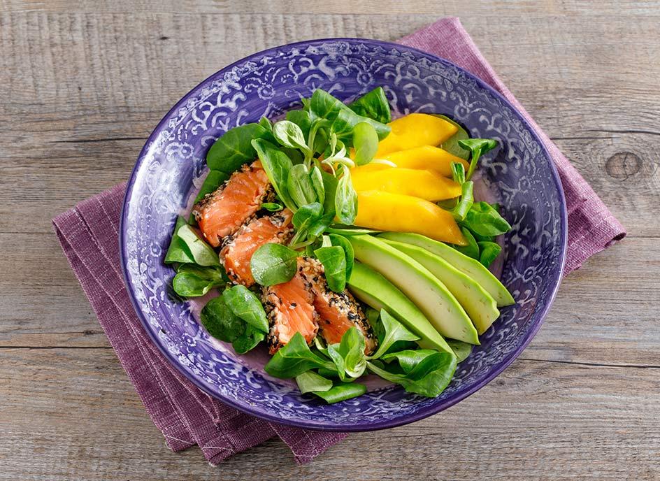 Ricetta Salmone Orientale.Ricetta Insalata Orientale Con Salmone E Olio Di Semi Di Sesamo Zucchi Zucchi