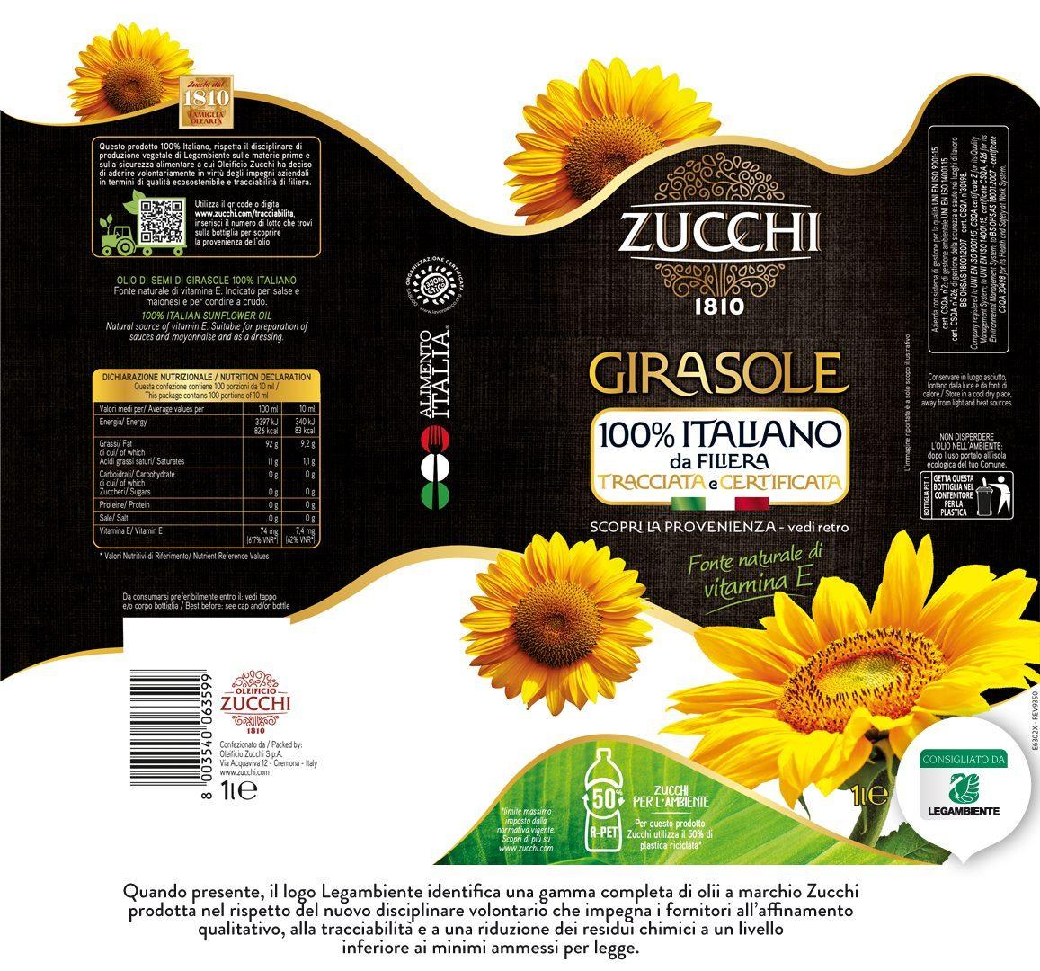 E6302X Zucchi Girasole 100% Ita Legambiente 1l