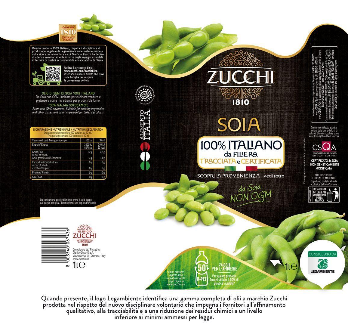 E6302Z Zucchi Soia 100% Ita Legambiente 1l