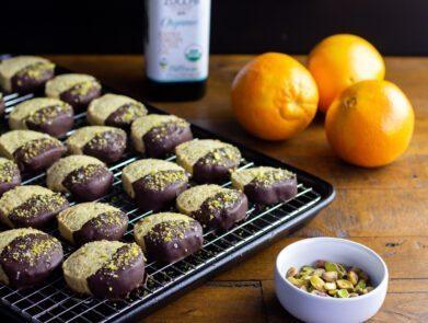 Pistachio Orange Chocolate Cookies - Zucchi EVOO