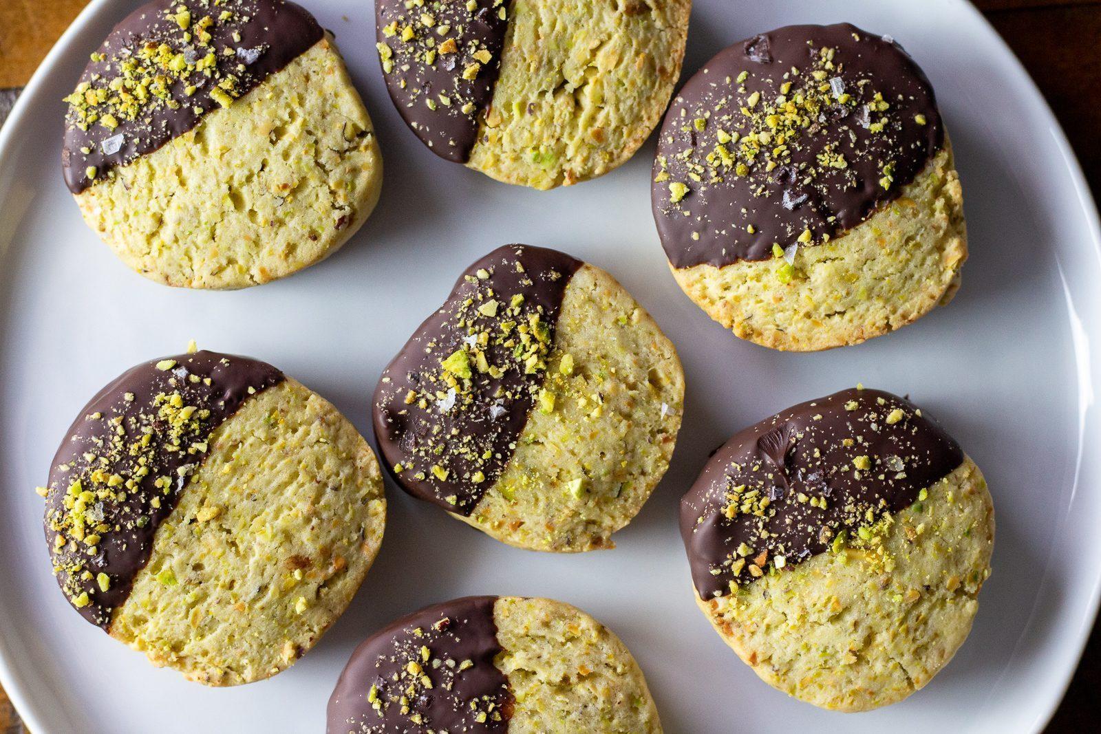 Pistachio Orange Chocolate Olive Oil Cookies - Zucchi Recipes