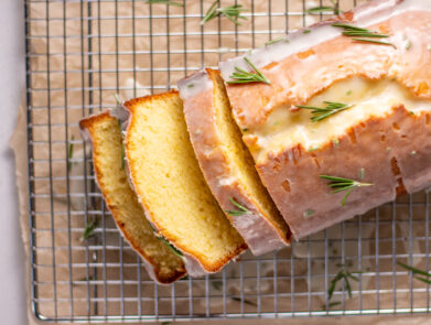 Orange Olive Oil Cake with Rosemary Icing