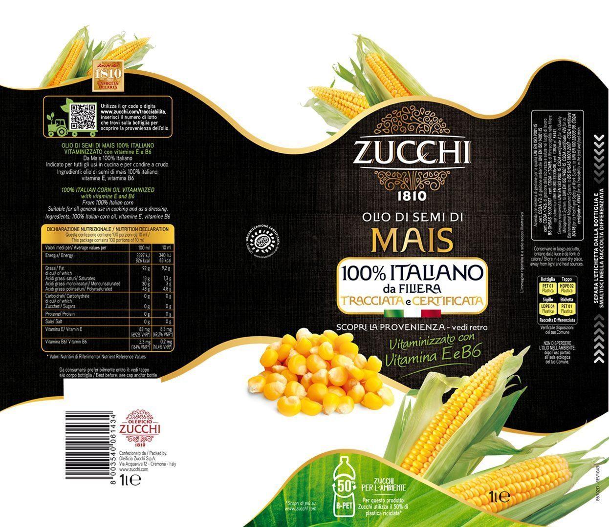Etichetta Zucchi Sleeve Mais